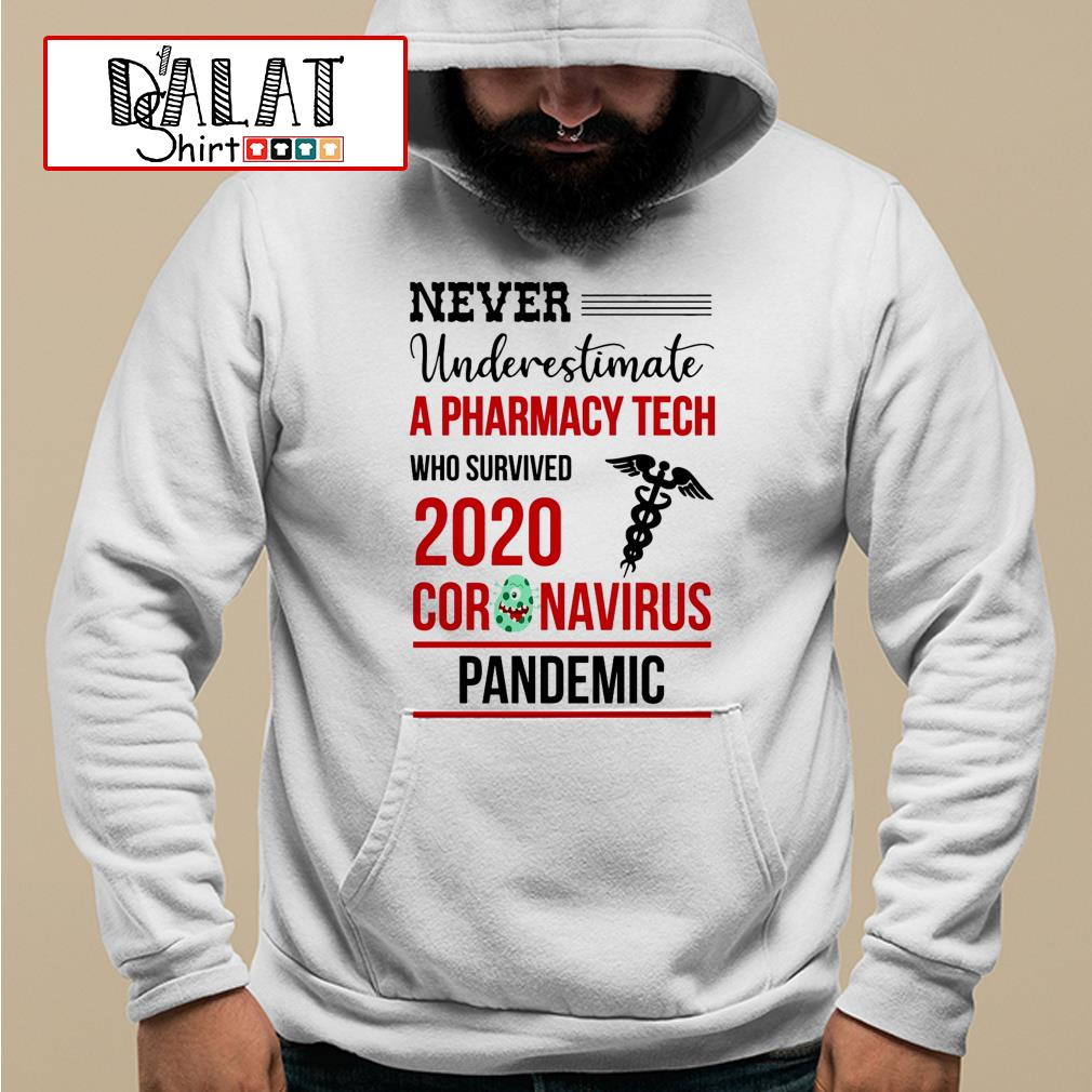 Never underestimate a Pharmacy Tech who survived 2020 coronavirus pandemic Hoodie