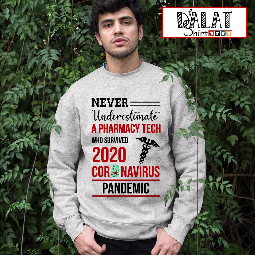 Never underestimate a Pharmacy Tech who survived 2020 coronavirus pandemic Sweater