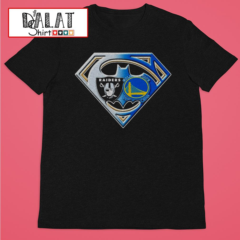 Oakland Raiders and Golden State Warriors inside me superman shirt