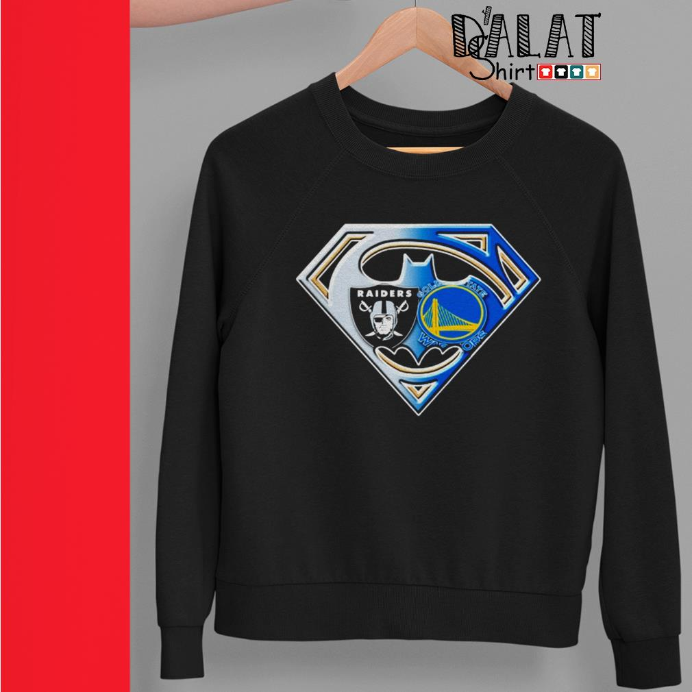 Oakland Raiders and Golden State Warriors inside me superman Sweater