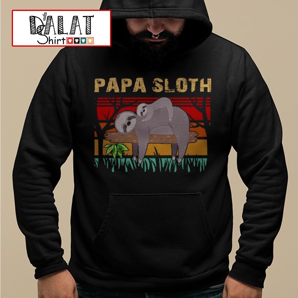 Papa sloth vintage Hoodie
