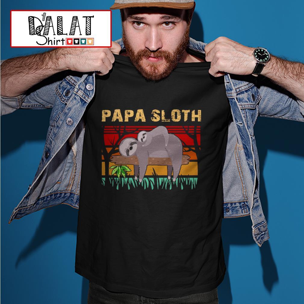 Papa sloth vintage shirt