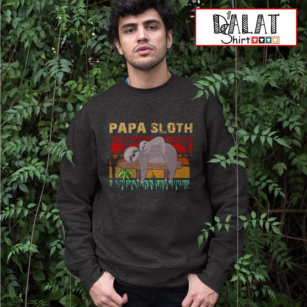 Papa sloth vintage Sweater