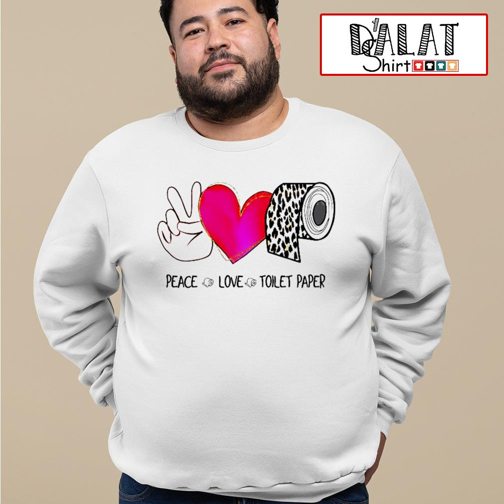 Peace love toilet Paper leopard Sweater