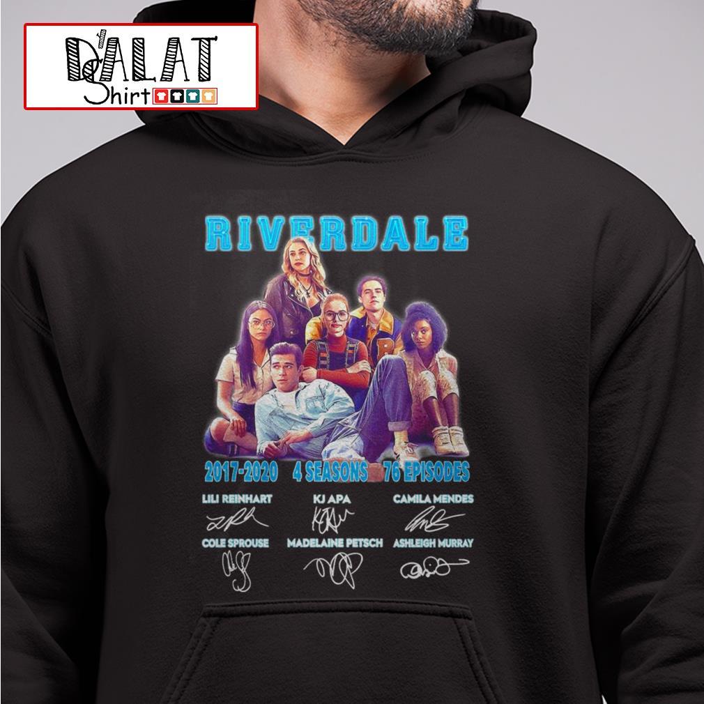 Riverdale 2017 2020 4 seasons 76 episodes signatures Hoodie