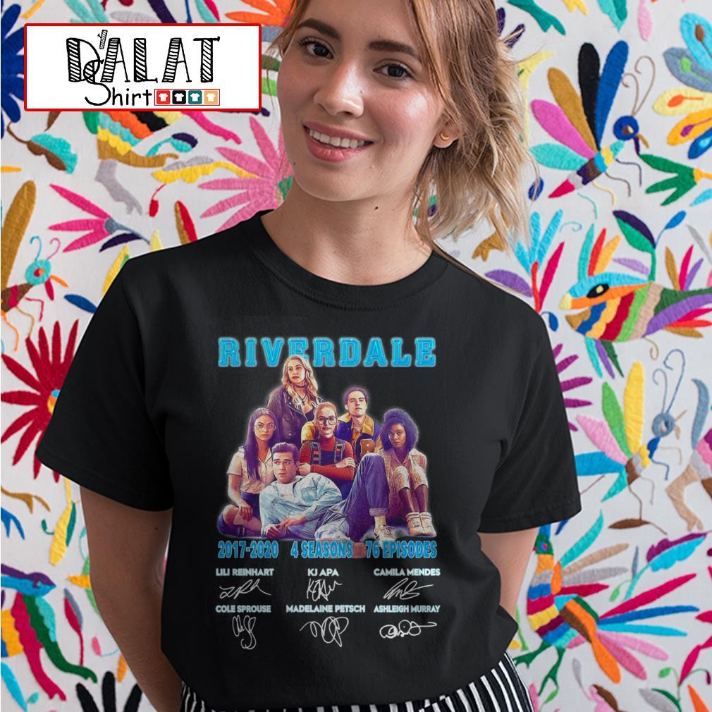 Riverdale 2017 2020 4 seasons 76 episodes signatures Ladies tee