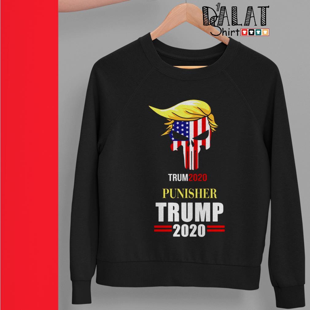 Skull America flag Punisher Trump 2020 Sweater