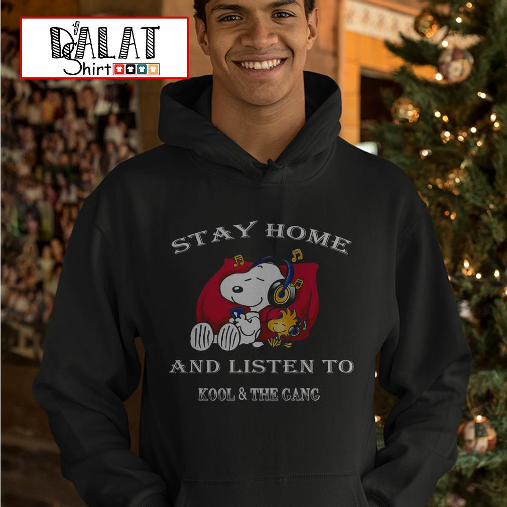Snoopy stay home and listen to kool and the gang Hoodie