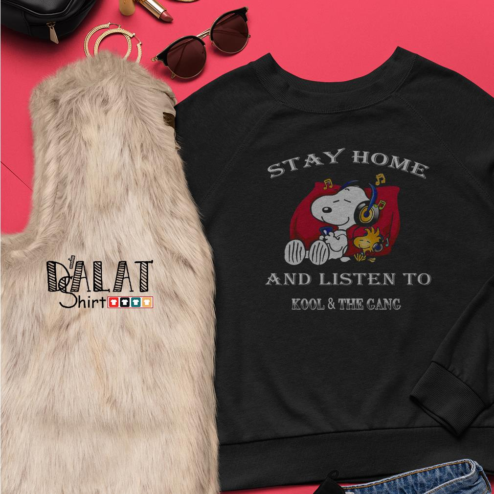 Snoopy stay home and listen to kool and the gang Sweater