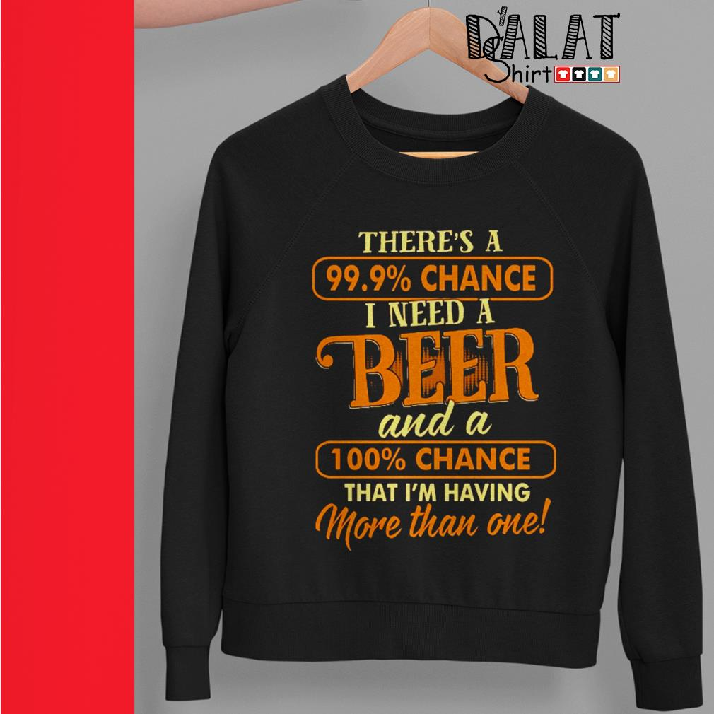 There's a 99.9% chance I need a beer and a 100% chance Sweater