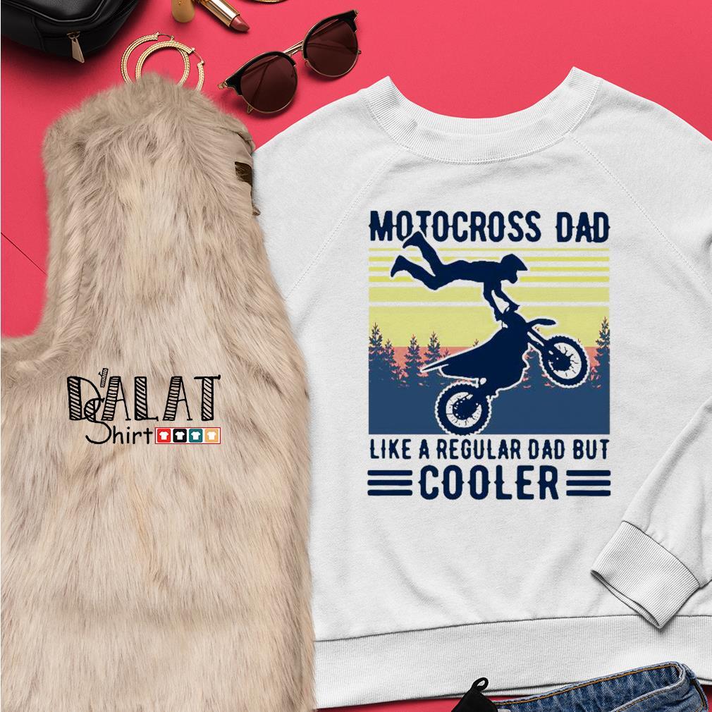 Motocross dad like a regular dad but cooler vintage Sweater