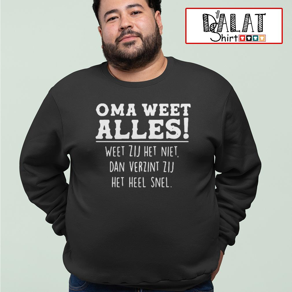 Oma weet alles Sweater