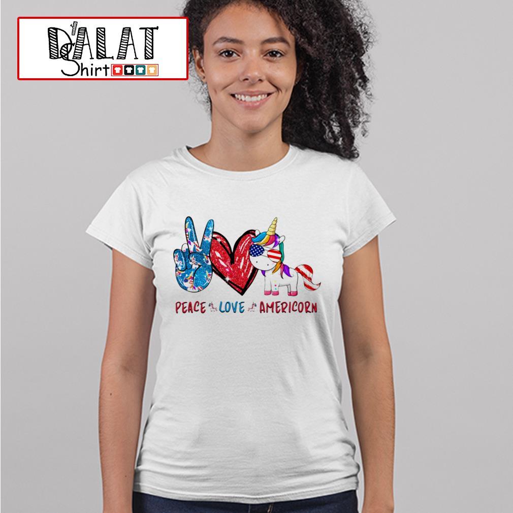 Peace love Americorn Ladies tee