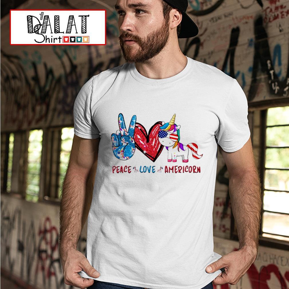 Peace love Americorn shirt