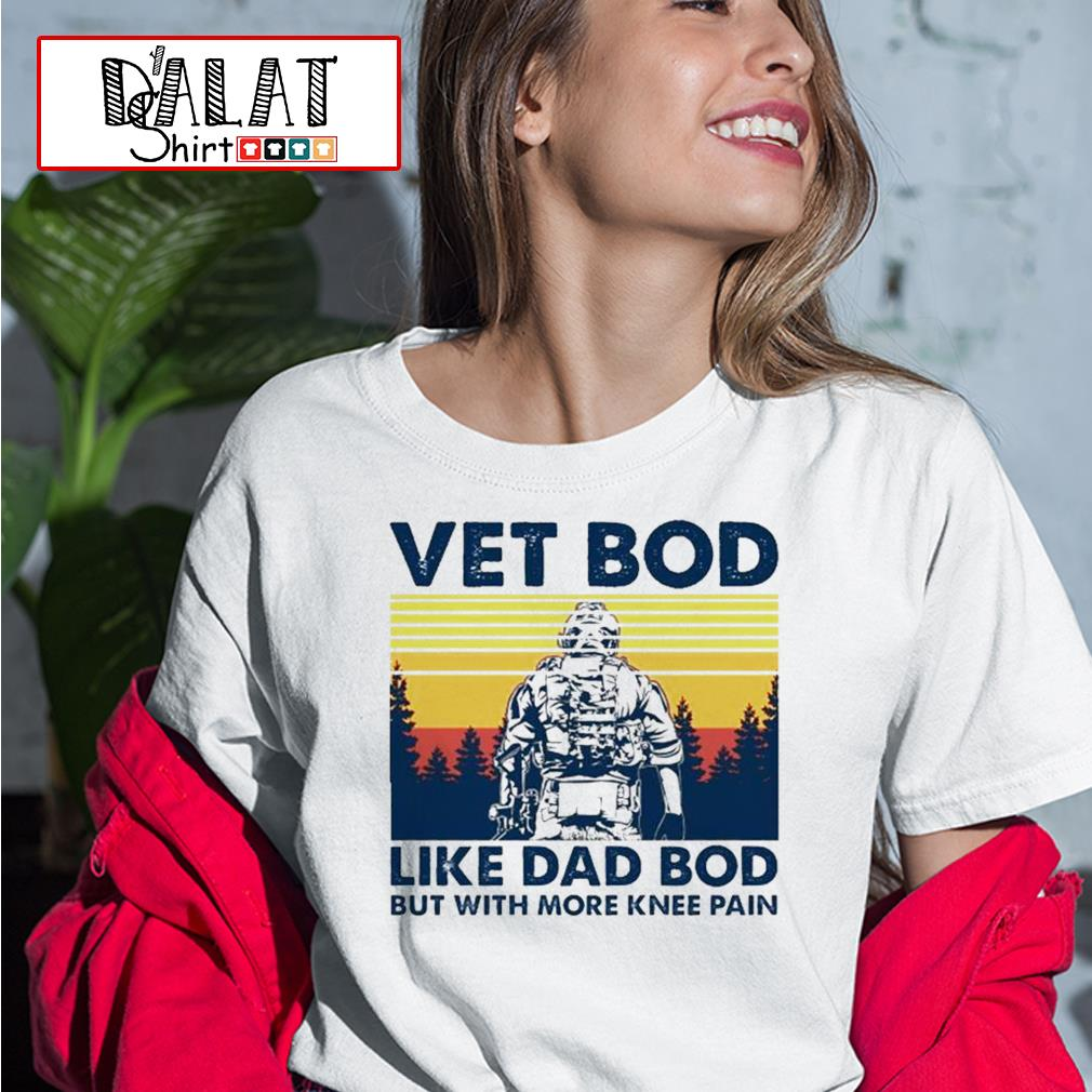 Vet bob like dad bod but with more knee pain vintage Ladies tee