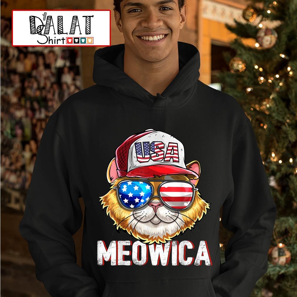 USA Cat Meowica independence day 4th of July s hoodie