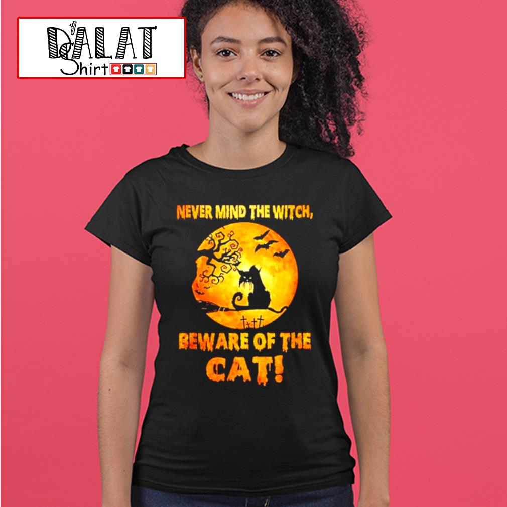 Never mind the witch beware of the Cat moon Halloween shirt MF ladies-tee