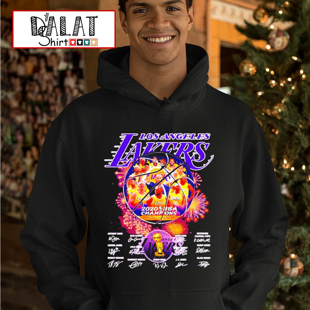 Los Angeles Lakers 2020 NBA Champions all players signatures s hoodie
