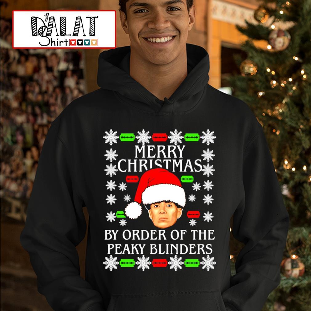Merry Christmas by order of the Peaky Blinders s hoodie