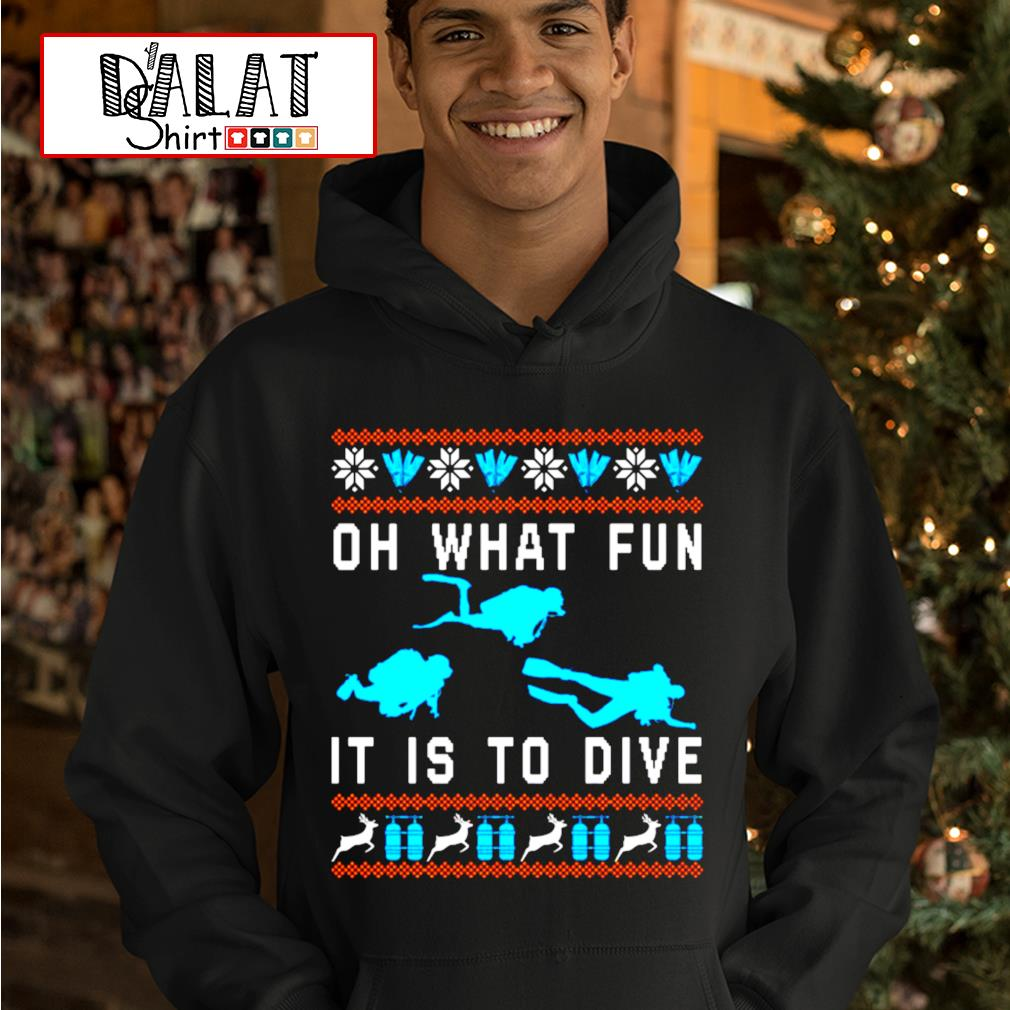 Oh what fun it is to dive Christmas ugly s hoodie