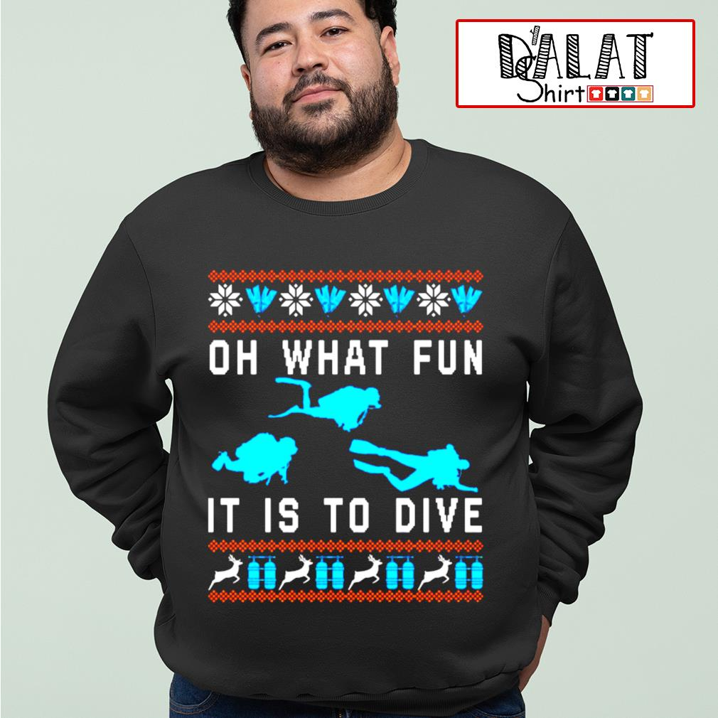 Oh what fun it is to dive Christmas ugly s sweater